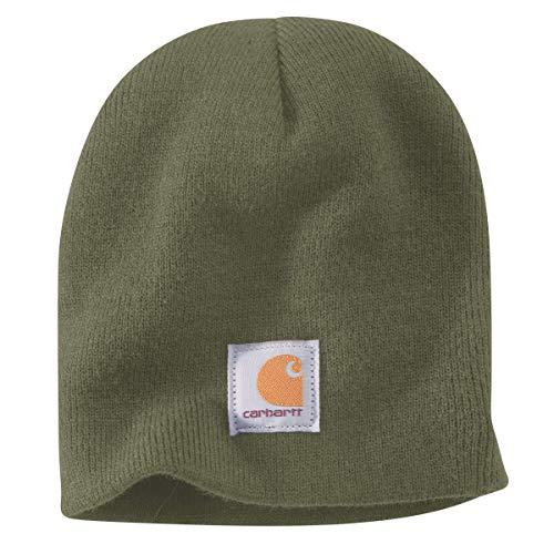 Carhartt .A205.G42.S000 - Cappello Invernale in Maglia, Colore: Muschio