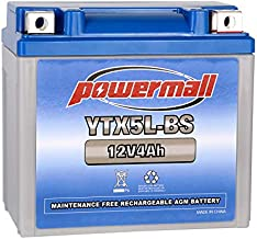 YTX5L-BS High Performance - Maintenance Free - Sealed AGM Motorcycle CTX5L Battery Replacement For Honda YUASA Yamaha ETX5L-BS Batteries