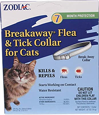 Zodiac Breakaway Flea & Tick Collar for Cats 7 Month Supply