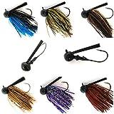 Wtrees 3/4oz Best Bass Jigs Football Flipping Swimming Pitching Jigs for Bass Fishing (Bass Jigs #13-2104)
