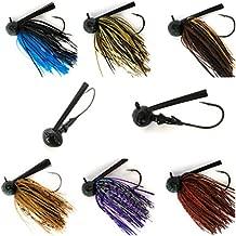 32886 Bass Jigs for Bass Fishing Pack Bulk Set Kit Flipping Jigs Weedless Jigs Swim Jigs Pitching Jigs Football Jigs (Football Jigs 6 of Pack(1/2oz,5/0) at Six Colors)