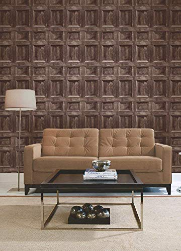 3 x Wood Panel Wallpaper - Chocolate