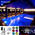 AKEPO Car Home Use 32W RGB Twinkle+ Sound Activated Fiber Optic Lights Kit Star Ceiling Sky Light with Total 800pcs in 13.1ft/4m + 9.8ft/3m Long Optical Fiber Cable for Indoor or Interior Deco