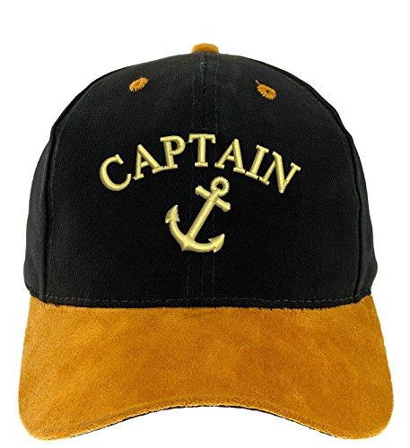 4sold Kapitänsmütze Cap Captain Anker Ancient Mariner, Captain Cabin Boy Crew First Mate Yachting Baseballmütze Inschrift