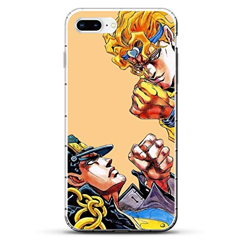 QNNN Transparent Silicone TPU Shockproof Clear Case Compatible with Apple iPhone 7 Plus/8 Plus-Jojo-Bizarre Stardust-Crusaders 1