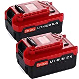2 Packs 6.0Ah Extended Capacity Replacement Battery Compatible with Porter Cable 20V Lithium-ion Battery MAX PCC685L PCC680L PCC682L PCC685LP
