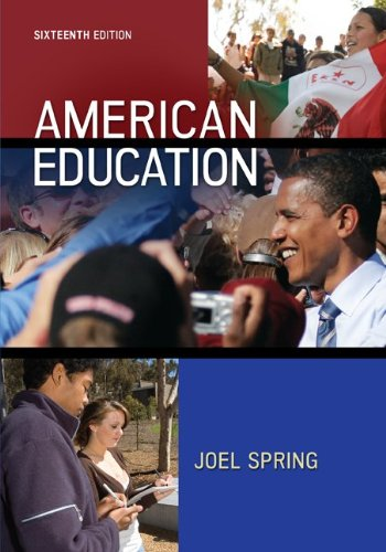 Top 1 joel spring american education 16th edition for 2020