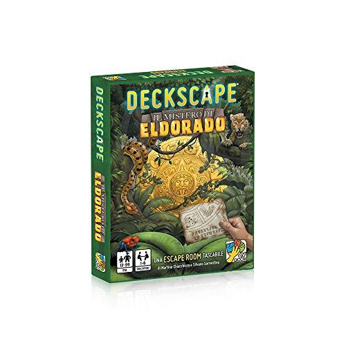 dV Giochi Deckscape-Il Mistero di Eldorado-Una Escape Room Tascabile-Edizione Italiana, Colore Verde, DVG5701