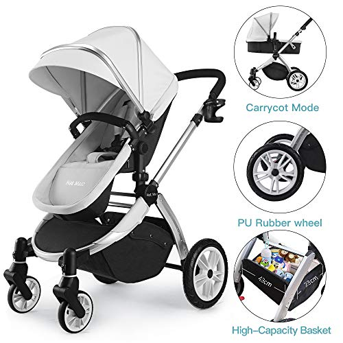 Affordable Infant Bassinet Hot Mom 2 in 1 Toddler Stroller Seat and Bassinet Combo,New PU Rubber Whe...