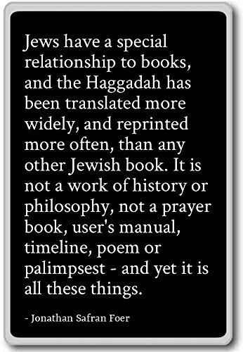 Ebrei hanno un rapporto speciale a Bo...–Jonathan Safran Foer–citazioni frigorifero, Black