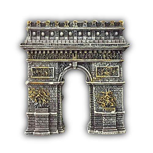 3D World Travel Aimant de réfrigérateur Souvenirs de Voyage Aimant de réfrigérateur de Cuisine Maison et décoration 5 × 6 cm Arc de Triomphe