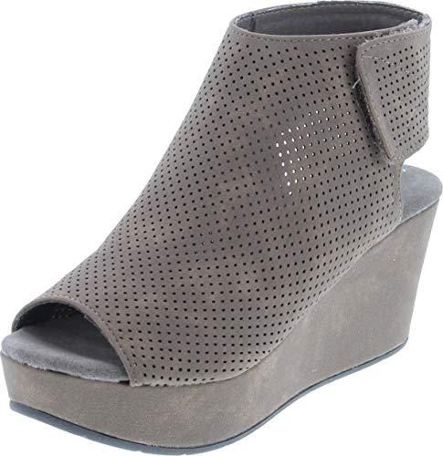 Pierre Dumas Women's Natural-2 Backless Slip-On Chunky Stacked Heel Fashion Mule Bootie,Taupe,8.5