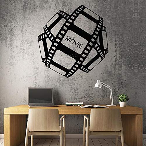 Calcomanía de vinilo para pared, cinta de película, película de Hollywood, adhesivo decorativo único para pared, papel tapiz, adhesivo decorativo A8 57X59CM