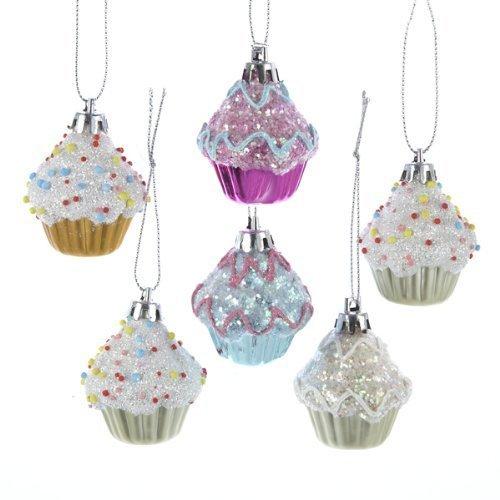 Kurt Adler 2' Cupcake Ornament Set of 6