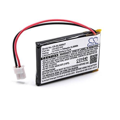 vhbw Batería recargable reemplaza 24-800-002 para lámpara solar (700 mAh, 3,7 V, polímero de litio)