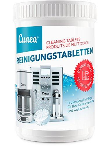Pastilles de nettoyage pour machine à café - 150x tablettes à 2 grammes compatible avec Jura Delonghi Siemens Bosch Krups Melitta