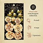 graphic 45 rose bouquet collection—classic ivory & natural linen paper flowers, multi