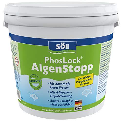 Söll 10898 PhosLock AlgenStopp Phosphatbinder 10 kg - ganzjährig anwendbare Teichpflege zur dauerhaften Phosphatbindung und Algenvorbeugung im Teich Pflanzenteich Fischteich Koiteich