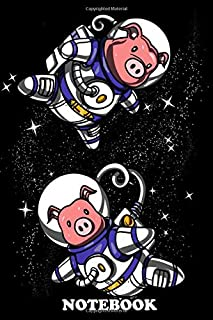 Notebook: This Space Pigs Poster Makes A Perfect Gift For A , Journal for Writing, College Ruled Size 6