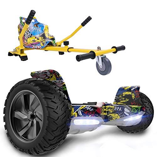 GeekMe Gyropode Hoverboard 8,5' Auto-équilibré Scooter électrique Tout Terrain avec Moteur...