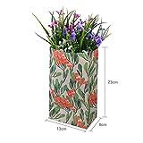 Yosoo 60PCS Sachets Aliments Kraft Sac Pot de Fleurs Pain avec Autocollant en Motif Fleurs Décoration Cadeau 23*13*8cm(4 Motifs, 15PCS Chaque Motif)