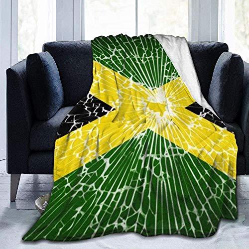 USDFYU Banderas De Manta De Cuatro Estaciones Súper Suaves Cálidas Y Cómodas Jamaica con Textura Manta Adecuada para Sofá Cama Sala De Estar Dormitorio 80X60