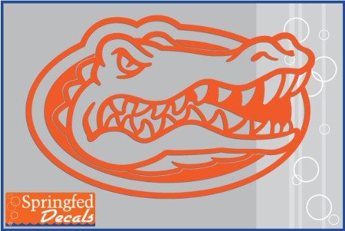 Florida Gators ORANGE CUT VINYL GATOR HEAD LOGO 12' Vinyl Decal Car Truck Window UF Sticker