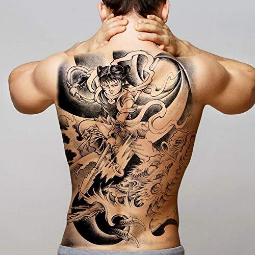2pcs Homme Tatouage imperméable Grand Tatouage Dos 2pcs-7