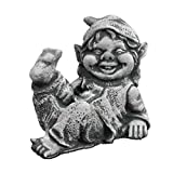 Steinfigur Gnom Troll Großeltern Kobold Zwerg Wicht Wichtelmann Oma Opa Gartenfigur (10061 - Gnom/Zwerg)