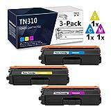 3-Pack (1C+1Y+1M) TN310C TN310M TN310Y Compatible Toner Cartridge Replacement for Brother HL-4150CDN HL-4140CW HL-4570CDW HL-4570CDWT MFC-9640CDN MFC-9650CDW MFC-9970CDW Printer.