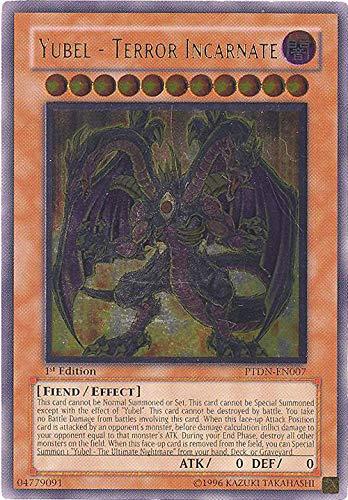 Yu-Gi-Oh! - Yubel - Terror Incarnate (PTDN-EN007) - Phantom Darkness - Unlimited Edition - Ultimate Rare
