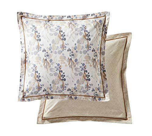 Blanc des Vosges Taie d'oreiller Panoramique Sable 65 x 65 cm - Percale 100% coton 80fils/cm²