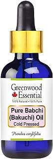 Greenwood Essential Pure Babchi (Bakuchi) Oil (Psoralea corylifolia) with Glass Dropper 100% Natural Therapeutic Grade Cold Pressed 100ml (3.38 oz)