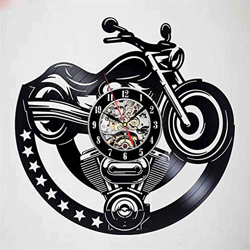 Home Living Modern Super Motor Vinyl Wandklok Motorcycle Sticker Decorative-A