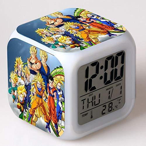 Juguete Despertador Personalizado Dragon Ball Cartoon Alarm Clock Juguetes para NiñOs Reloj Despertador Digital Mesa De Luz De Despertador ElectróNico 15