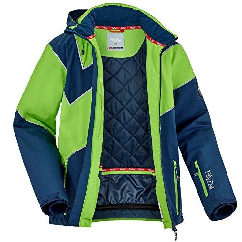 Fifty Five Extrem Skijacke für Herren Saint Andrews Blau Grün 2XL Warme Snowboard Jacke Winterjacke