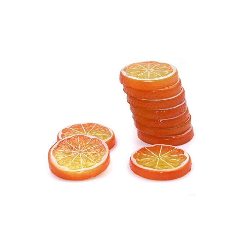 silk flower arrangements hagao fake lemon slice artificial fruit highly simulation lifelike model for home party decoration orange 10 pcs