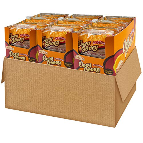 Prairie City Bakery Original Ooey Gooey Butter Cake, 3 Boxes, 30 Individually Wrapped Cakes