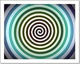 Barewalls Hypnosis Swirl Paper Print Wall Art (8in. x 10in.)