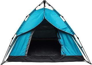 DorisAA camping tält enkel inställning 2–3 personer campingtält omedelbar automatisk dubbla lager utomhus solskydd (färg: ...