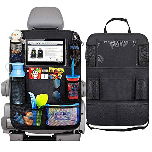 LYD Organizador universal para respaldo de asiento de coche, bolsa de almacenamiento con múltiples bolsillos, soporte para tabletas, accesorios interiores de automóviles