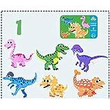 ACHICOO 6 en 1 Niños Bebé de dibujos animados Animal Patrón Puzzles Educación Temprana Juguete de Madera Dinosaurio Familia
