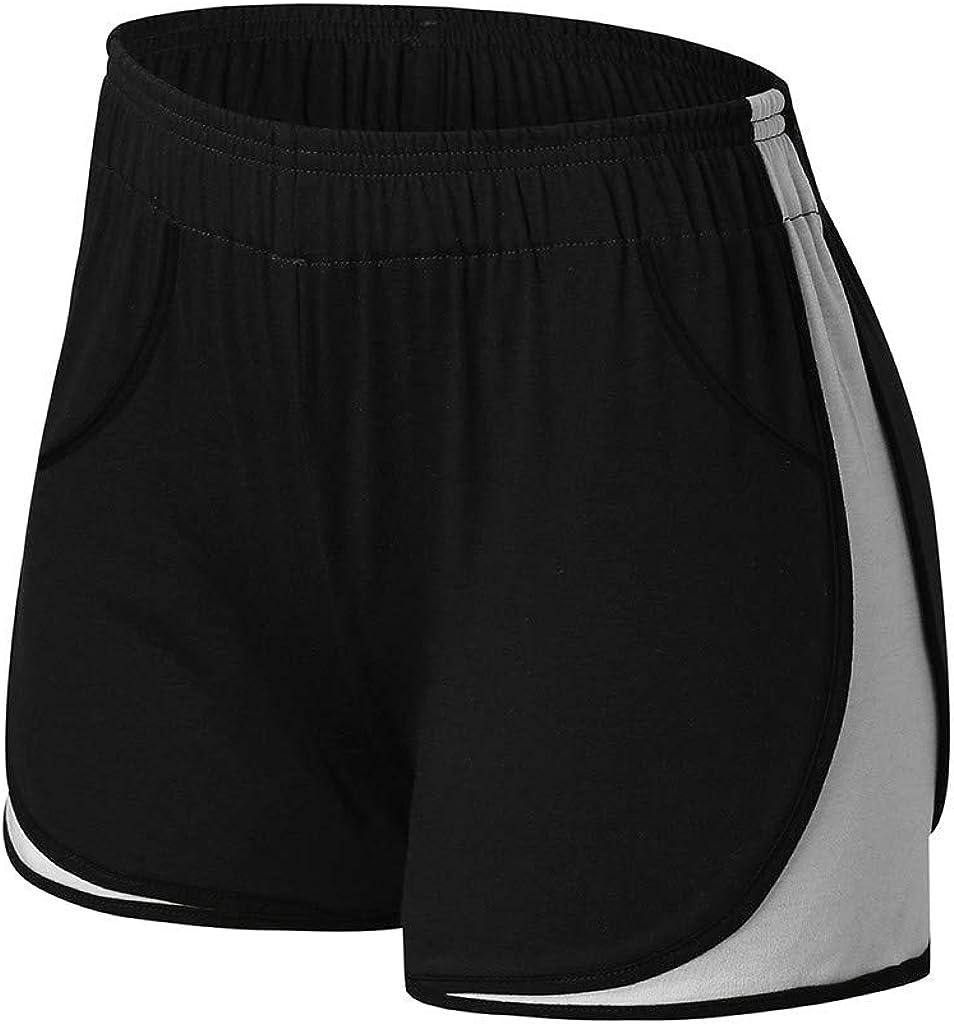 Running Shorts for Women,Running Athletic Shorts Yoga Short Pants Women Gym Dance Workout Sport Short No Drawstring