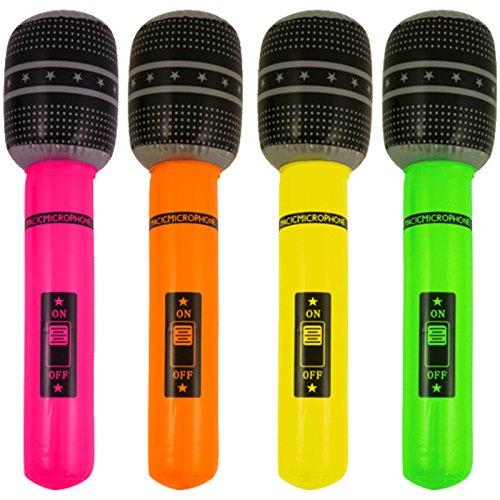 4Micrófono hinchable 40cm inflable Micro para músicos de banda Aire Guitarra banda