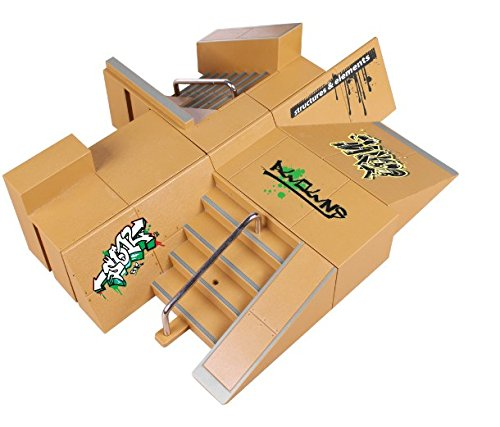 ECMQS 8pcs Skate Park Kit Ramp Parts for Tech Deck, Fingerboard Mini Finger Skateboard, Fingerboards Ultimate Parks (Typ B)