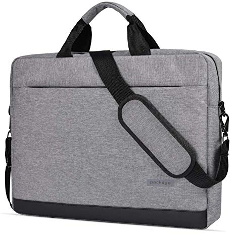 15-15.6 Inch Laptop Shoulder Messenger Bag Waterproof Notebook Case with Luggage Strap for Dell Inspiron 15 3000 5000 7000 / Acer Aspire E 15 E5-575, E5-576 / Acer Flagship CB3-532 (Grey)