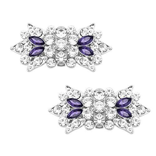 Duosheng & Elegant GM Pinzas para zapatos decorativas de cristal brillante Diamante...
