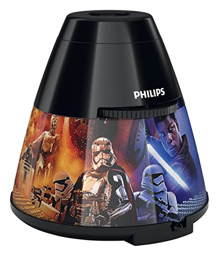 Signify LED Star Wars Episode VIII Children's Night Light and Projector, Black
