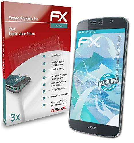 atFolix Schutzfolie kompatibel mit Acer Liquid Jade Primo Folie, ultraklare & Flexible FX Bildschirmschutzfolie (3X)