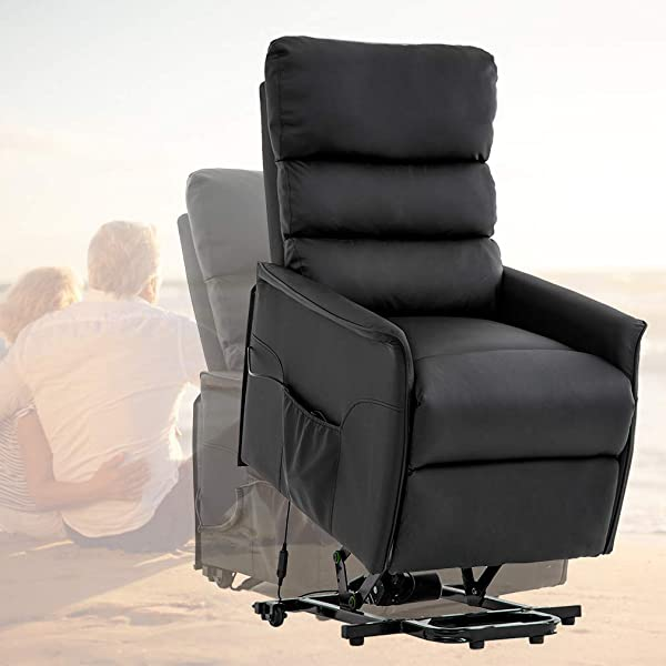 PayLessHere Lift Recliner Chair Power Lift Chair Power Recliner Electric Recliner For Elderly Wall Hugger Recliner Chair With Remote